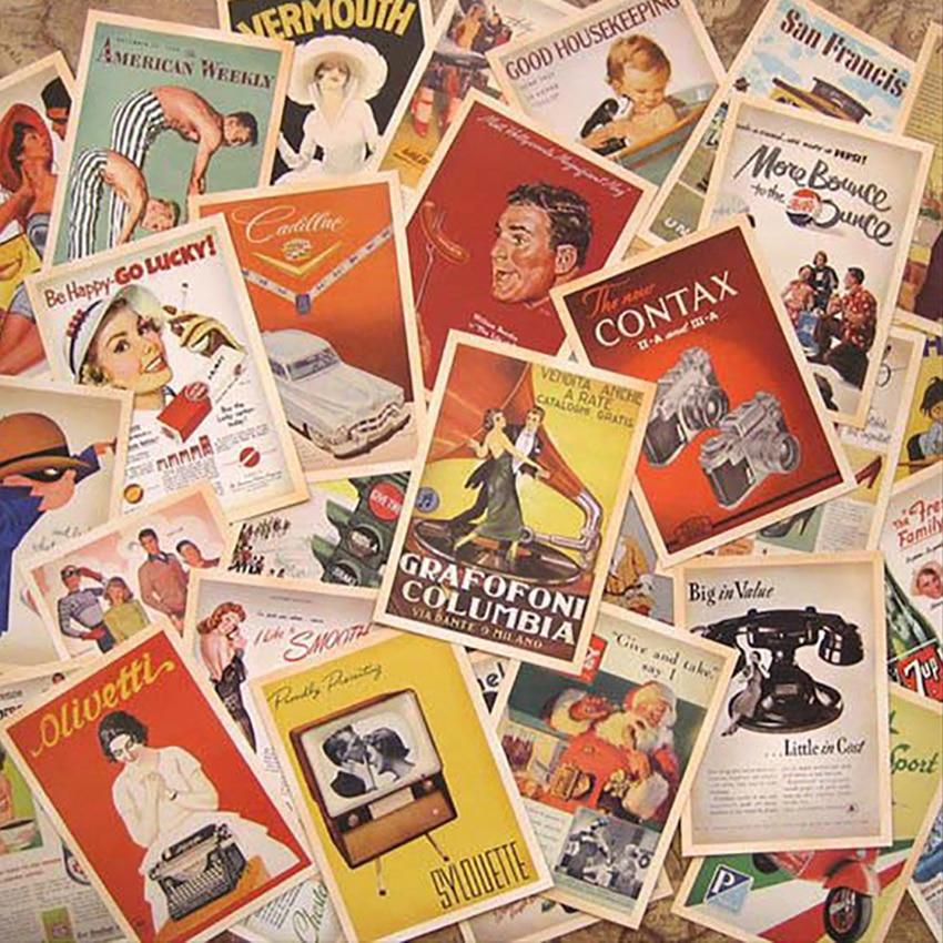 32 Pcs/set Postcards Set Classic Movie Poster, Childhood Cartoon Characters, Buildings, Old Age, War Theme, Celebrity Postcard