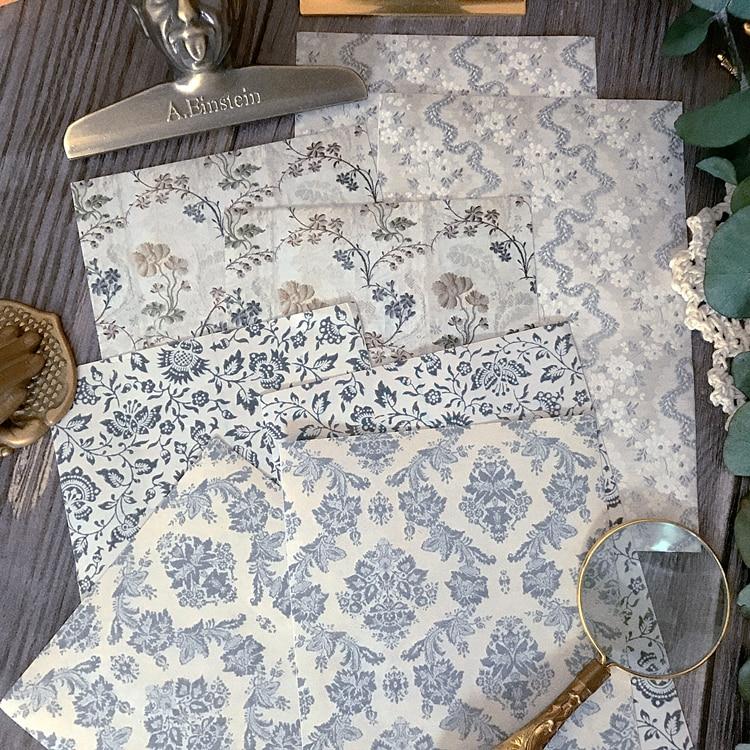 ZFPARTY, pegatinas para álbumes de recortes de papel con página Floral Vintage, planificador feliz/fabricación de tarjetas/proyecto de diario