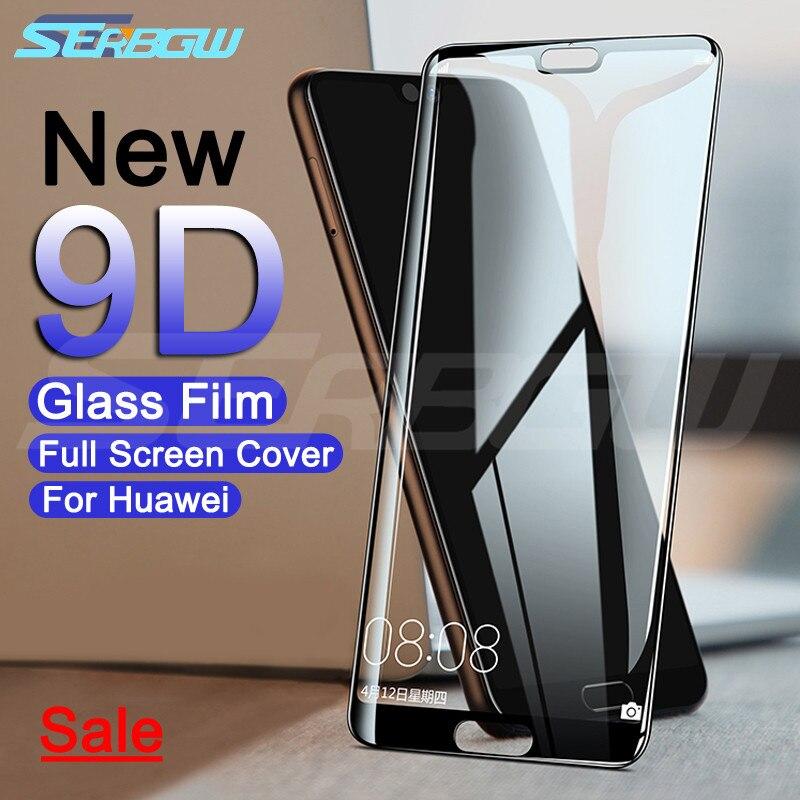 Vidrio Protector de pantalla templado 9D para Huawei P20 Pro P10 P9 Lite Plus P Smart 2019