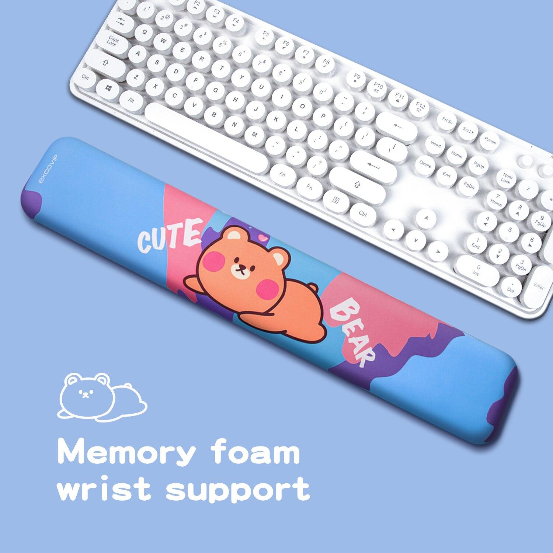 لوحة المفاتيح المعصم اليد الراحة وسادة دائم مريح مريح المعصم وسادة دعم حصيرة للمكتب والألعاب المعصم الألم تخفيف