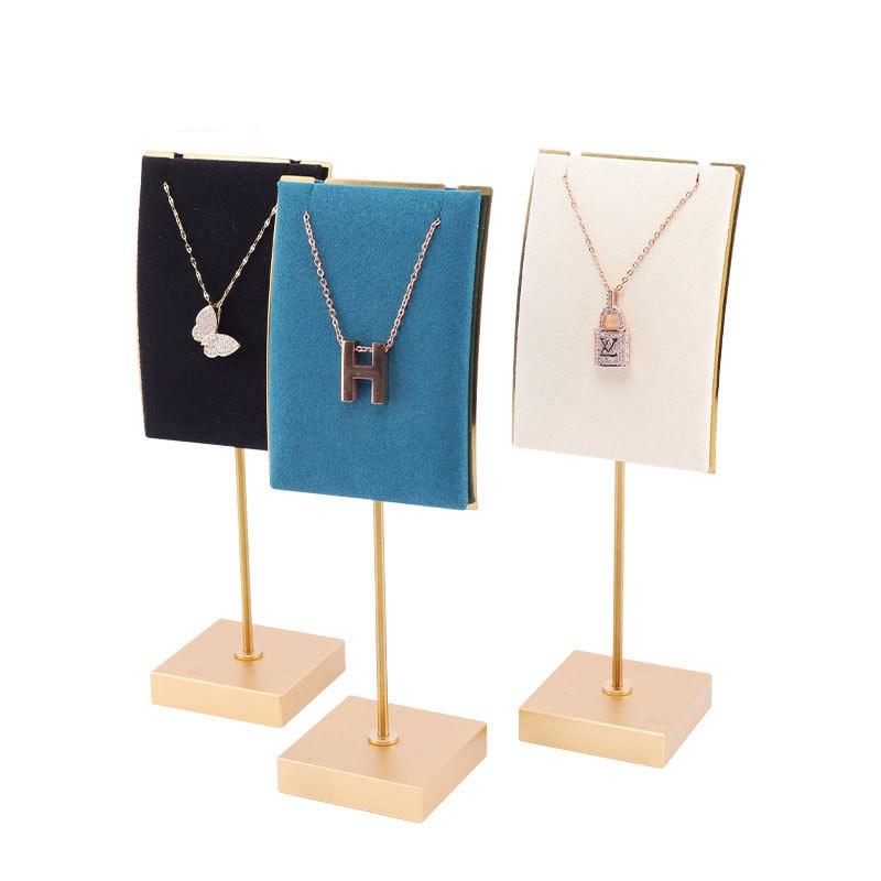 Металлическая Вельветовая витрина для ожерелья, домашний женский органайзер для ювелирных изделий, торговый центр, Высококачественная под...