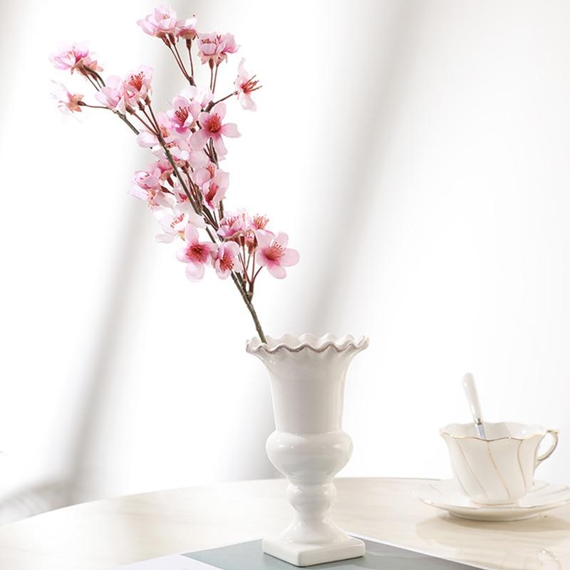 Artificial Flowers Cherry Blossom Artificial Pal Silk Plastic Sakura Garden Decoration Outdoor Decorative Flowers Wedding Decor