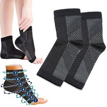 1 pair Ankle Support sock Foot Anti Fatigue Compression Sleeve Relieve Pain Swelling Arch Heel Socks