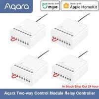 Aqara     Module de commande bidirectionnel Eigenstone  relais Zigbee  interrupteur de commande declairage intelligent  fonctionne avec lapplication Mijia Homekit pour maison intelligente