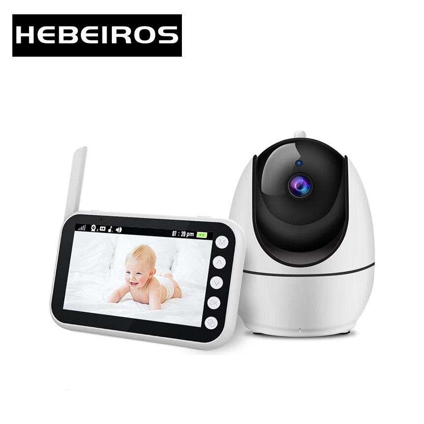 Hebeiros 4.3 بوصة فيديو مراقبة الطفل تغذية تذكير رصد درجات الحرارة 360 PTZ Wifi كاميرا بطارية الأمن مربية كاميرا