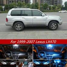 15Pcs White Ice Blue Canbus LED Lamp Bulb Car Interior Light Kit For Lexus LX470 1999-2007 Map Dome Trunk License Plate Lights