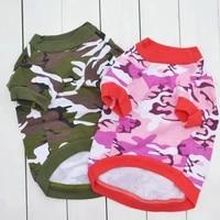 camouflage dog shirts for small dog sweatshirt pet clothes for chihuahua shih tzu tshirt puppy cat dogs pets t shirt para perro
