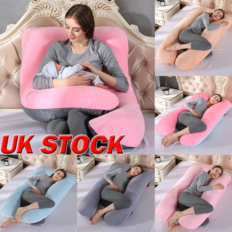 Almohada de maternidad en forma de U para mujeres embarazadas cómodo cojín suave para dormir cuerpo Multi-función maternidad almohada embarazada