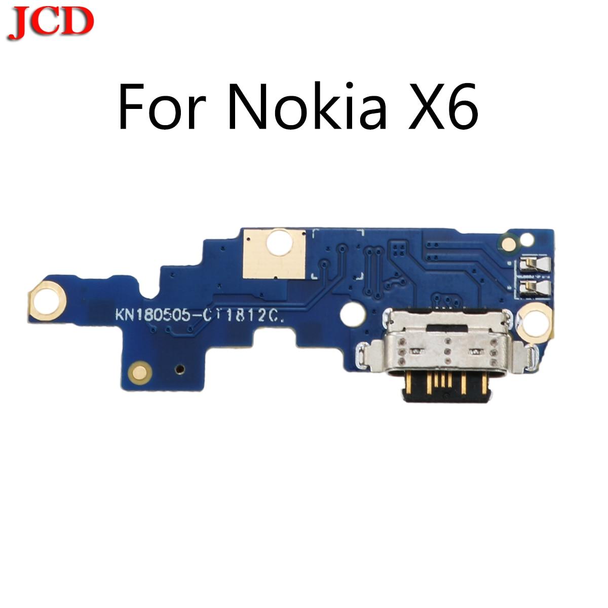 JCD nuevo para Nokia X6/6,1 Plus TA-1099/1103 tipo C cargador de puerto de carga USB conector de antena de base Mic Flex Cable placa de circuito