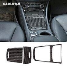 Center control panel protective film for Mercedes-Benz GLA 200 car interior carbon fiber sticker no-damage install accessories