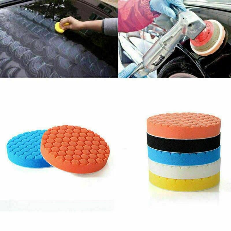 5 uds 6 pulgadas esponja pulidora de coche pulido pastillas de pulido y encerado corte Hexagonal pulido esponja Kit Set