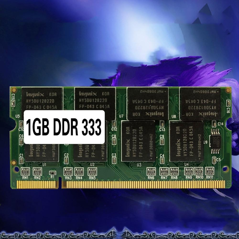 Memória ram SO-DIMM pc2700 ddr 333 mhz 200pin 1gb/ddr1 ddr333 pc 2700 200 pino para a ram do caderno