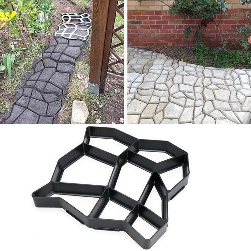 Cortadora de carga negra, molde para construir pavimentos, decoración para el jardín, cemento reutilizable, diseño de piedra, pavimentadora, herramientas de molde para caminar