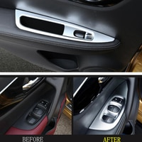 ABS Inner Door Armrest Window Lift Button Cover Trim 4pcs/set For Nissan Qashqai J11 2014 2015 2016 2017 2018 LEFT-HAND DRIVE