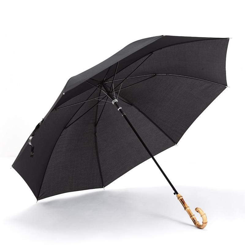 Retro Long Handle Umbrella Men Large Simple Japanese Elegant Umbrella Automatic Outdoor Waterproof Paraguas Rain Gear DF50YS enlarge