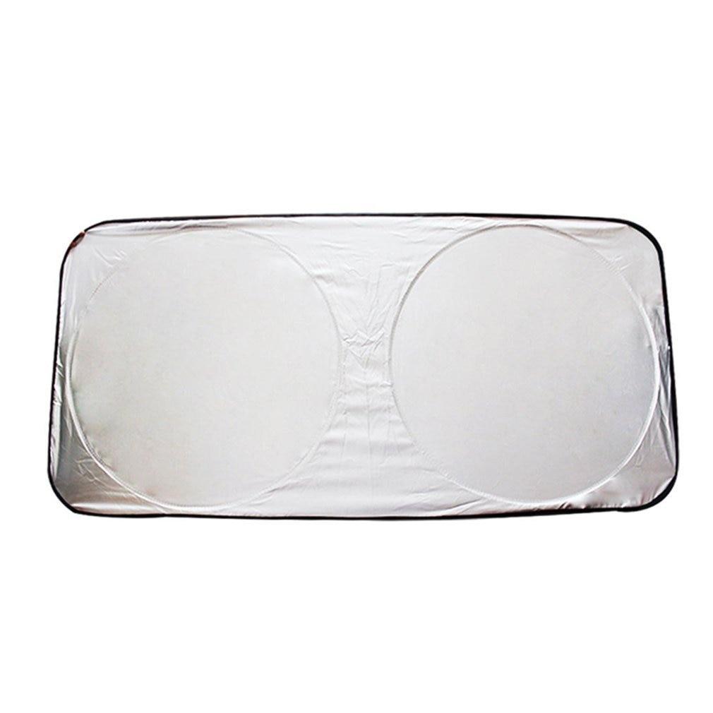 Universal Big Auto Car Vehicles Front Window Windshield Folding Visor Reflective UV Sunshade Heat Block Cover