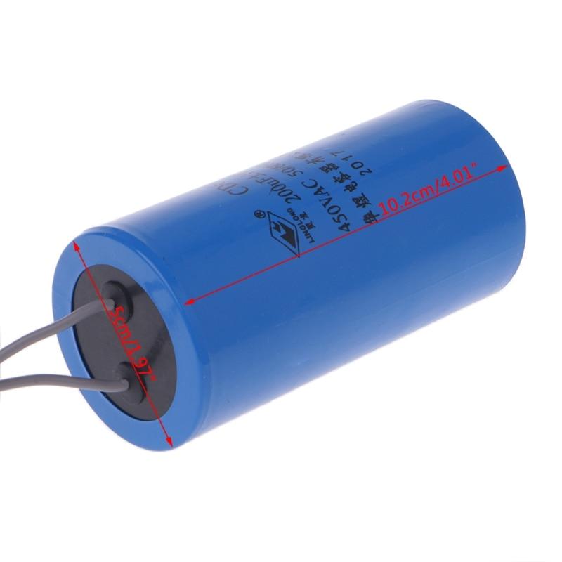 250-450V AC 200uF Motor arranque condensador CD60 alta calidad