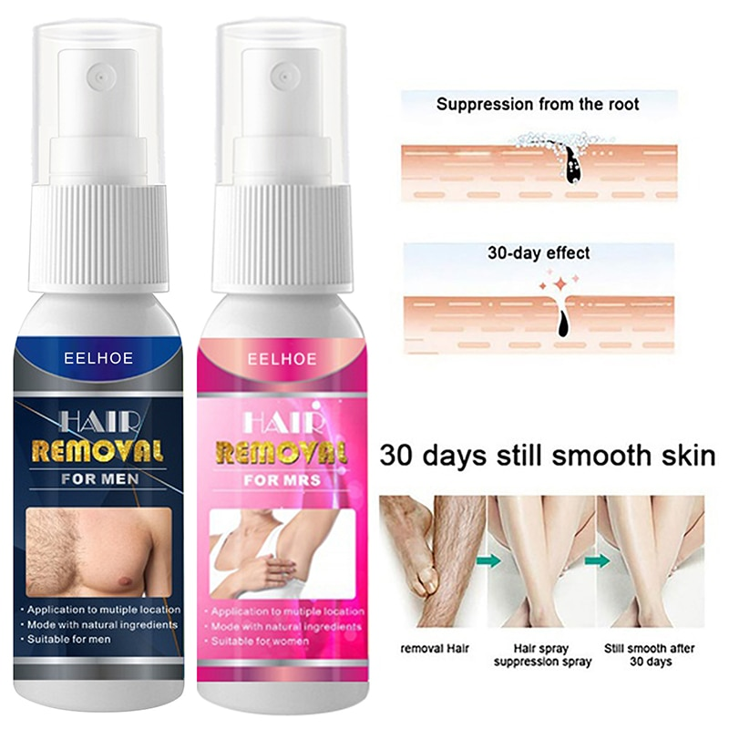 1 PCS Shave Inhibitor Stop Hair For Arm Leg Body Care For Man And Women Natural Hair Removal Spray