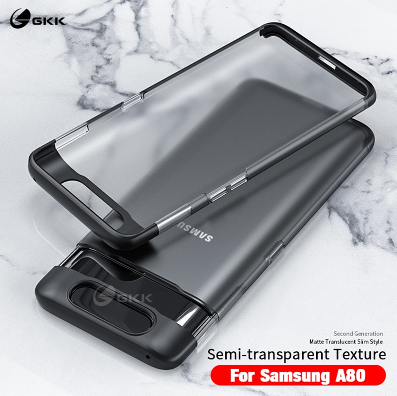 GKK Luxury Case for Samusng Galaxy A80 Translucent Fashion Hard PC Ultra Thin Matte Cover For Samsung Coque Fundas