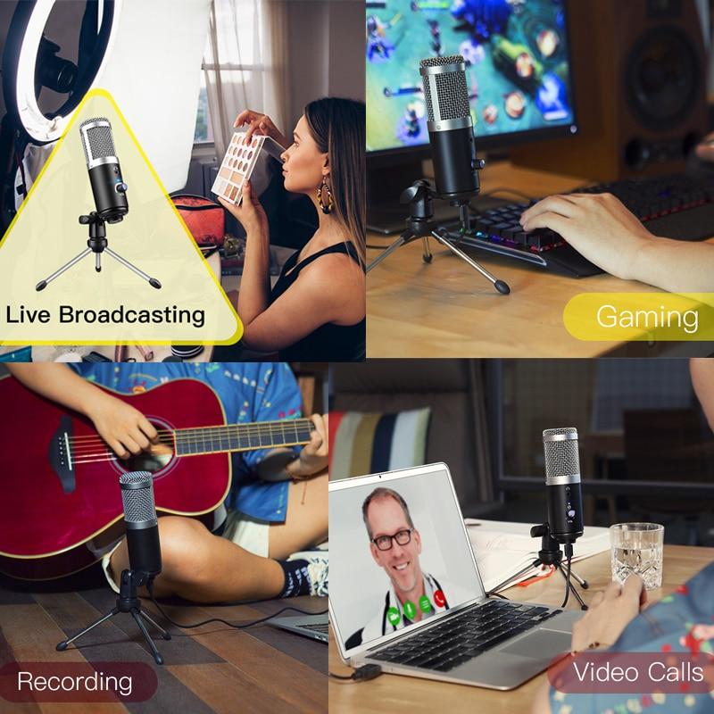 GGMM F1 USB Condenser Microphone for Laptop Mac Computer Recording Cardioid Studio Streaming Gaming Karaoke Youtube Videos enlarge
