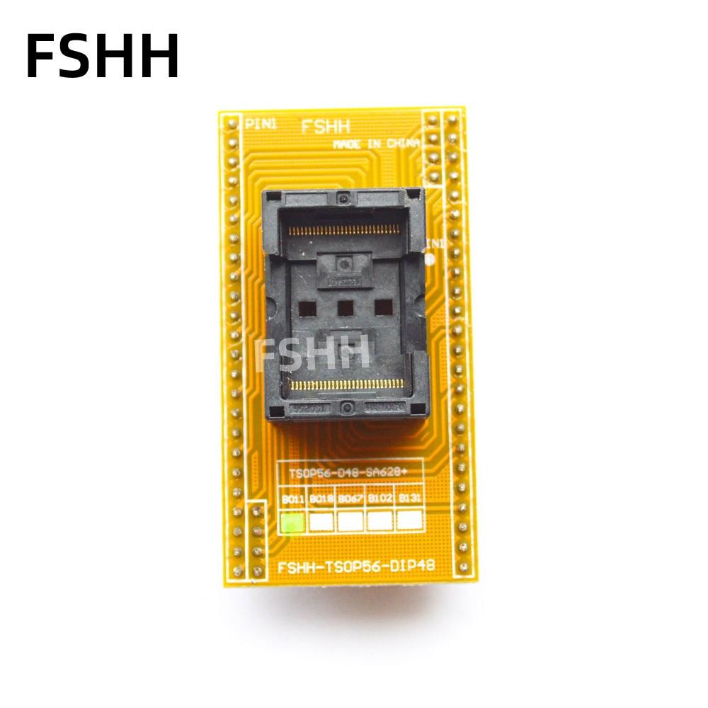 for Xeltek Programmer Adapter SA628-B067 Programmer Adapter TSOP56 to DIP48  Adapter  IC Test Socket fbga 48pin programmer adapter bga48 to dip48 adapter ic socket ic test socket