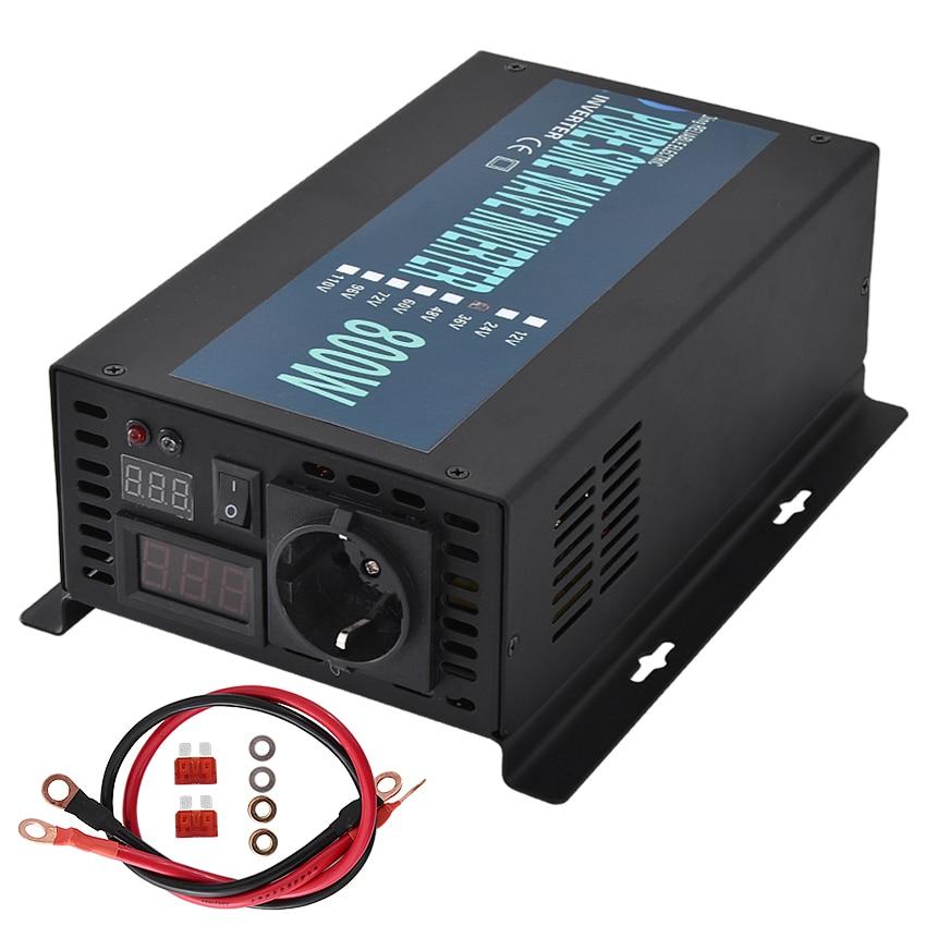 Neue RBP-800S 800W 12 V/24 V/36 V/48 V/60 V zu 220V Reine Sinus Welle Inverter Konverter Hause Netzteil Solar Power Generator Inverter