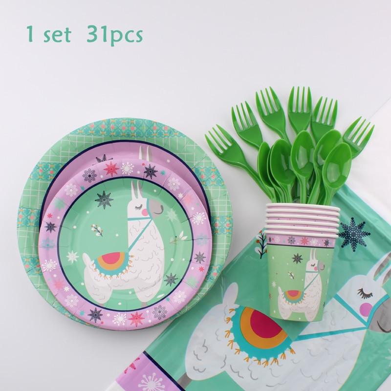 De Fiesta desechable decoración de servicio de mesa de papel tazas, toallas placas decoraciones para fiesta de cumpleaños de los niños de la ducha de bebé