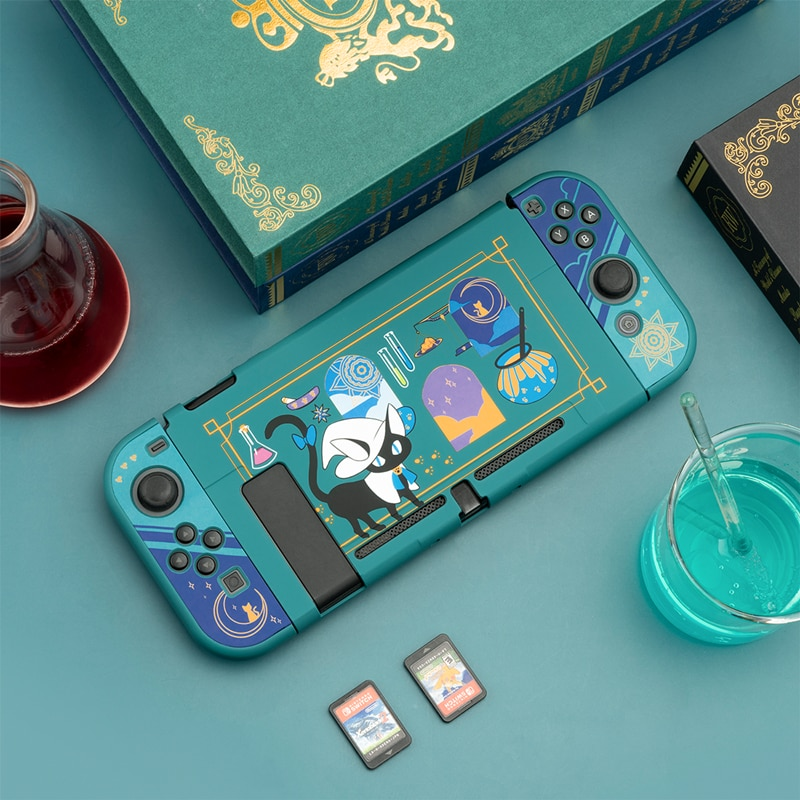 Geekshare Nintend Switch Shell Alchemy Cat Magic Potion Cartoon Fairy League Hard Cover Back Girp Shell For Nintendo Switch