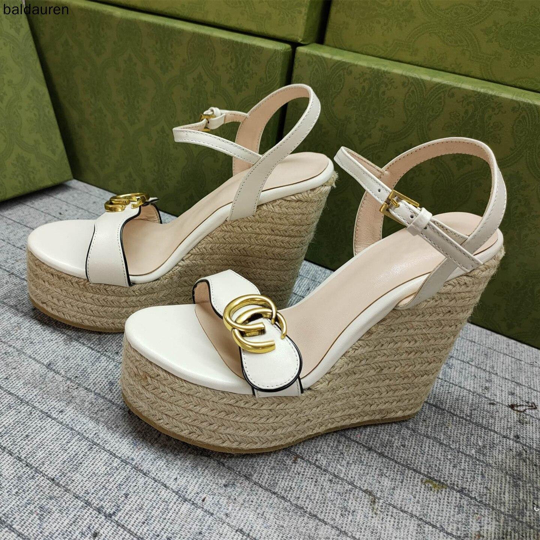 المرأة ربيع 2021 منصة جديدة منصة أحذية بكعب عالي مع صندل خشبي مفتوح اصبع القدم