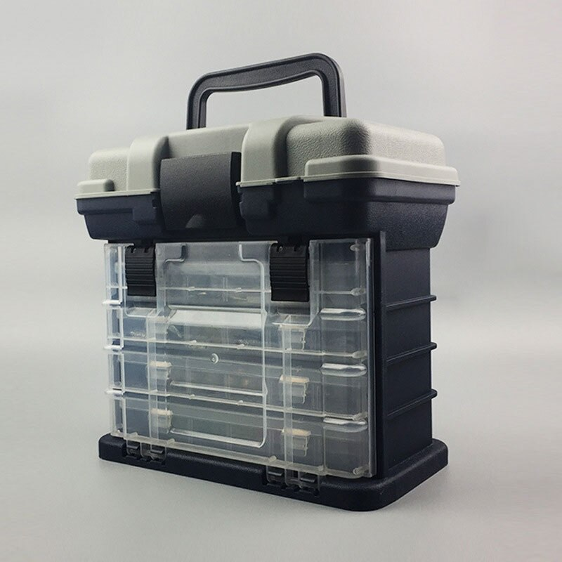 Portable Lure Box Size 27CM X 17CM X 26CM Fishing Tackle Box Detachable Stool Case 3500