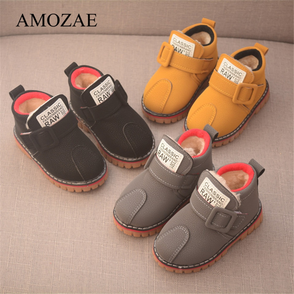 2021 New Children snow warm boots thick non-slip Plus snow boots Kids boys girls shoes winter boots casual shoes for Child