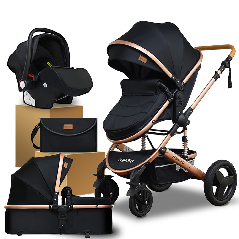 Babyfond 3 in 1 Baby stroller  Golden baby brand  portable child Baby carrier  stroller dual-use  4 in 1 pram with bags