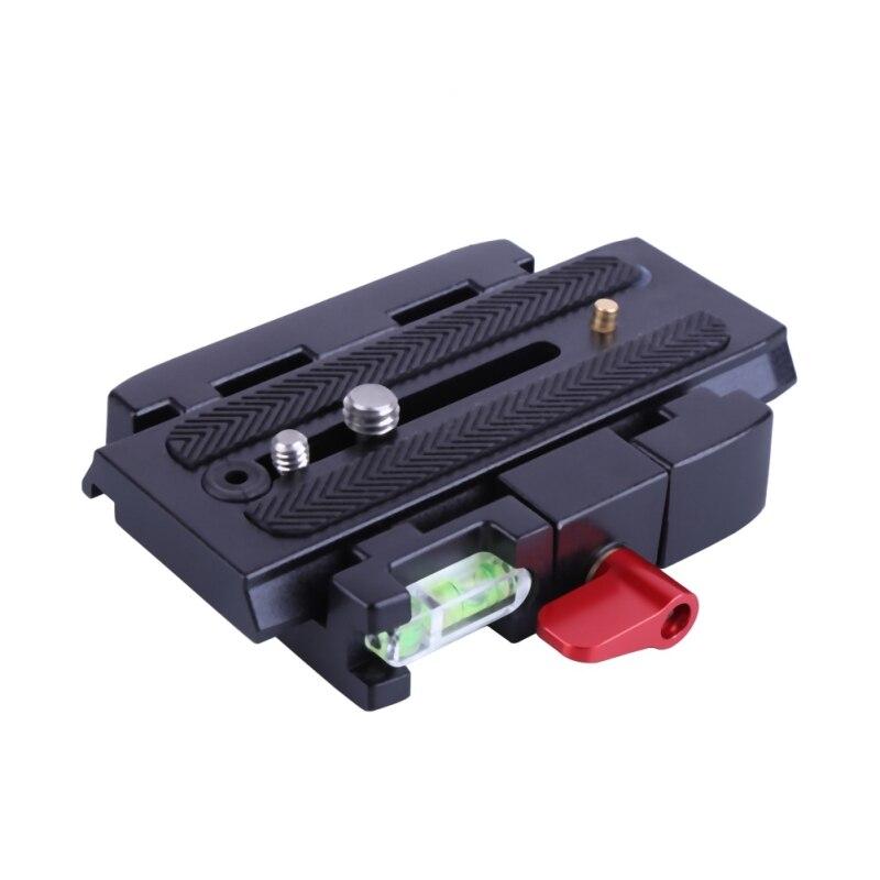 Adaptador de placa de liberación rápida placa QR aleación de aluminio para trípode Manfrotto Q5 501 500AH 701HDV 503HDV