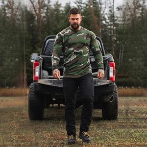 Camouflage print long sleeve sport t shirt Man casual dry fit gym running shirt Women black training fitness t shirt clothing