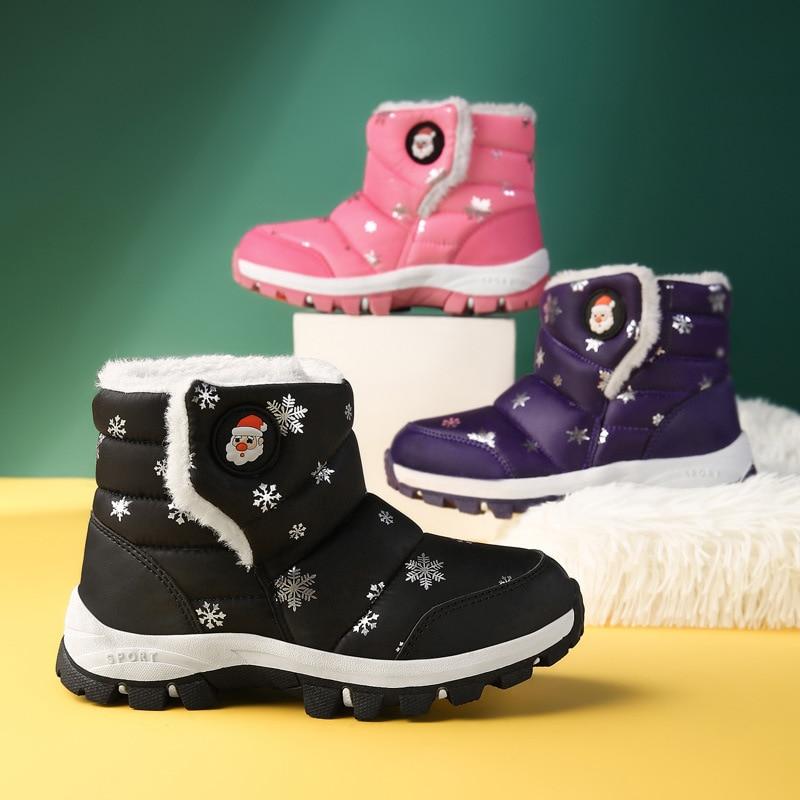 חורף נעלי בנות קטיפה פעוט ילד מגפי ילדי שמירה על חם בייבי שלג מגפי ילדי נעלי אופנה ילדי נעליים