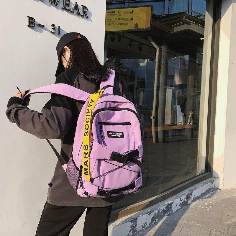 Рюкзак мужской модный брендовый Повседневный модный трендовый рюкзак Корейская версия учеников Старшей школы женский модный дорожный рюк...