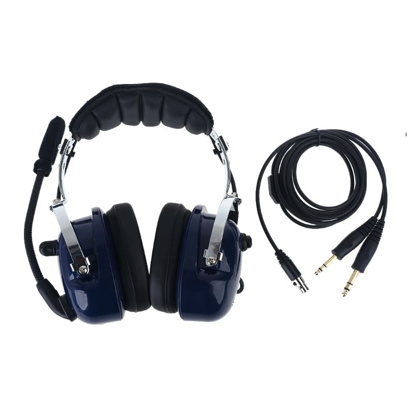 Air RA200 Aviation Pilot Headset with GA Dual Plugs Stereo Mono Switch MP3 Music