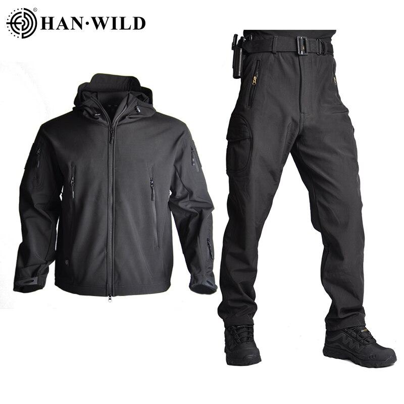 Комплект походных курток в стиле милитари, камуфляжная Водонепроницаемая утепленная флисовая армейская куртка, ветровка из софтшелла, так...