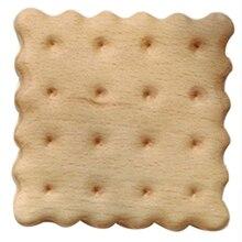 Qualité 1 pièces Durable hêtre Biscuit forme sous-verres napperons décor résistant à la chaleur boisson tapis maison Table thé café tasse Pad Table