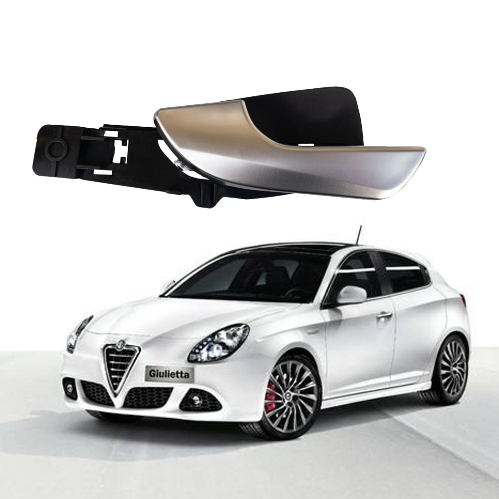 Puxador interior de porta de carro para alfa romeo giulietta, cromado, 2010 2011 2012 2013 2014 2015