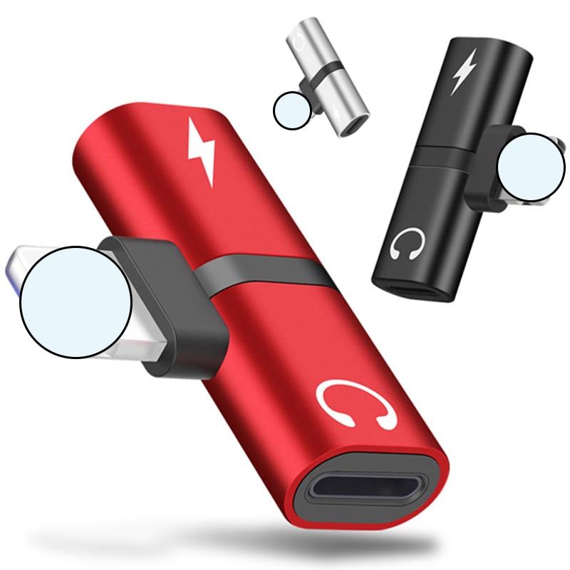 Adaptador Dual de carga de Audio para iPhone 7, 8 Plus, X,...