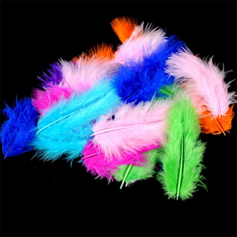 100 pçs 7-10 cm multicolorido penas inchado casamento vestido diy caixa de presente natal enchimento decoração artesanato acessórios