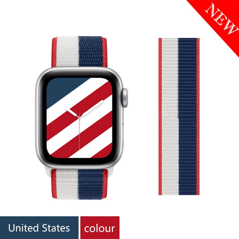Nylon Strap für Apple uhr band 44mm 40mm 42mm 38mm iWatch 3 4 5 6 se band 44mm sport schleife smartwatch wristbandbelt armband