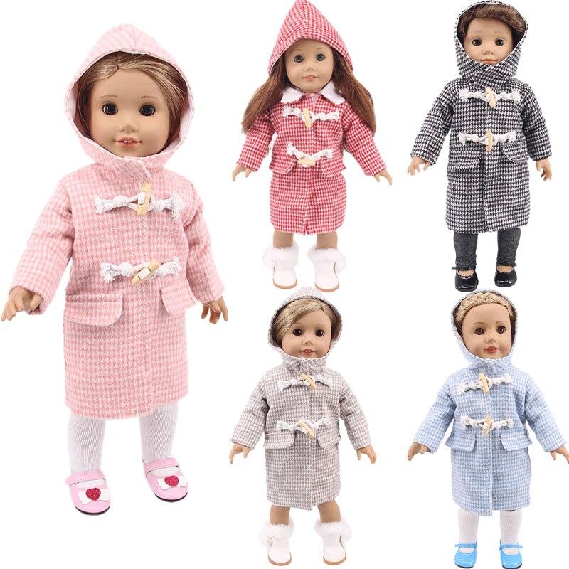 Ropa para muñecas de 5 colores sólidos de Abrigo con capucha de...