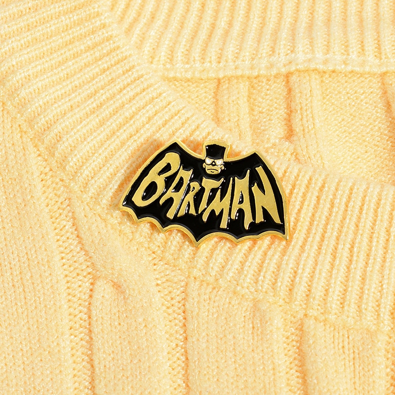 XEDZ Horror animal bat BARTMAN skull enamel pin romantic men and women metal badge punk clothes lapel brooch gift  - buy with discount