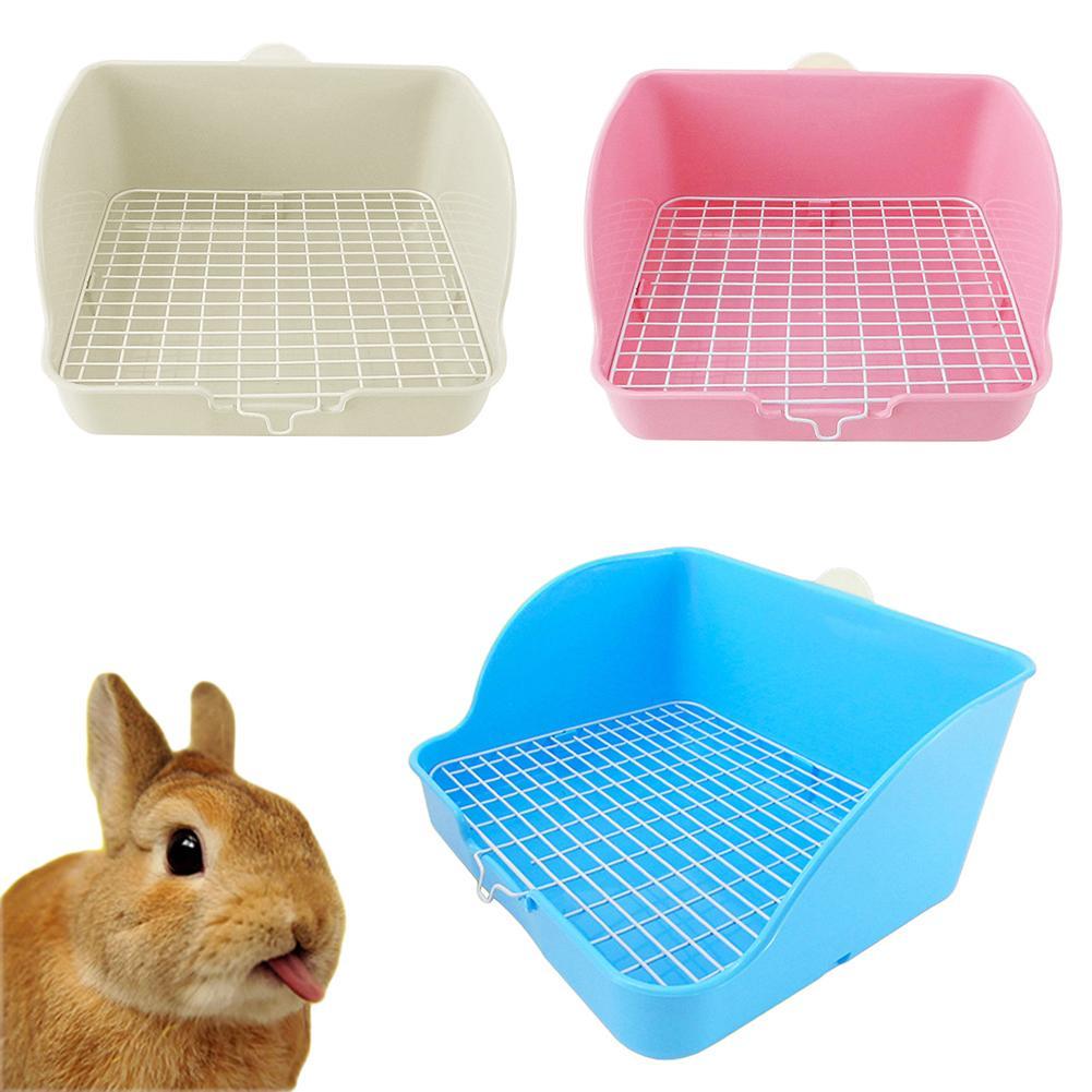 Домашние кошки кролик Туалет сетка квадратный горшок тренер крыса, хомяк угловой ящик для мусора