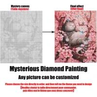 Peinture diamant personnalisee 5D avec PHOTO  image mysterieuse  broderie  bricolage  dessin anime  point de croix  decoration de maison  cadeau pour enfant