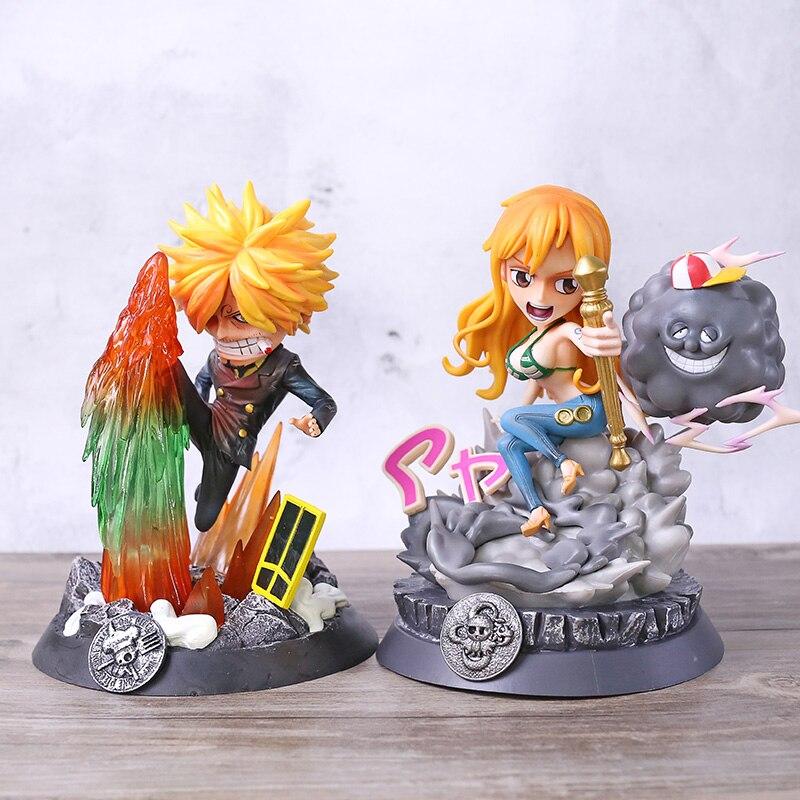 Figura de Anime de una pieza de la cuarta Zoro Nami Sanji Usopp, figura de acción de la estatua GK, juguete de modelos coleccionables de PVC
