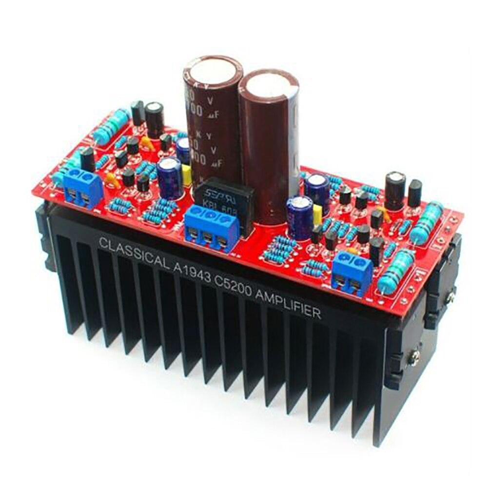Placa amplificadora de Audio estéreo de doble canal de alta potencia HIFI de doble AC12-28V, fácil instalación, A1943 C5200, transistores, ordenador duradero