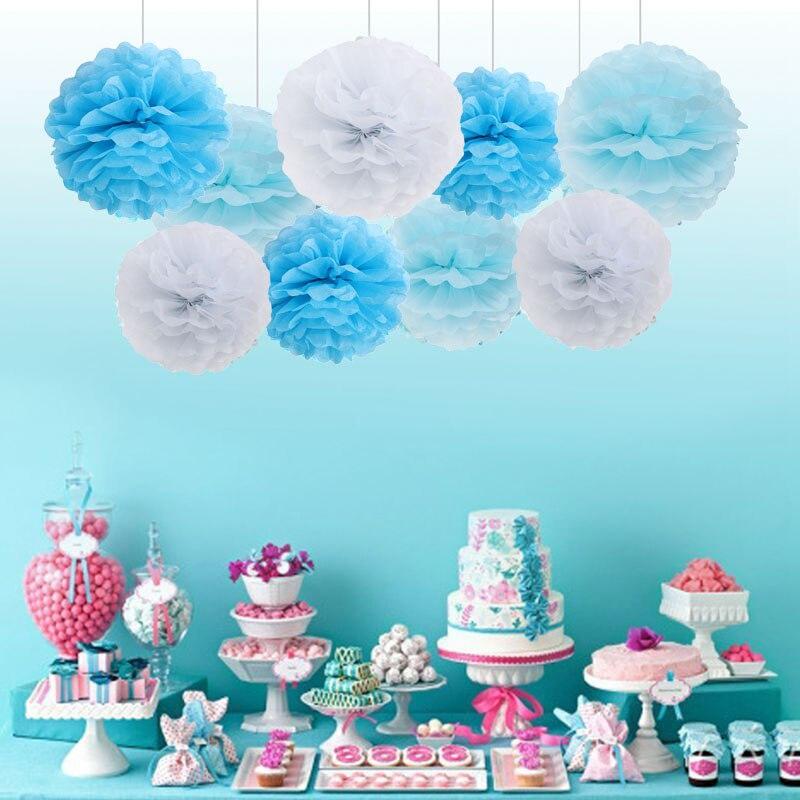 Синие латексные воздушные шары на первый день рождения мальчика-3